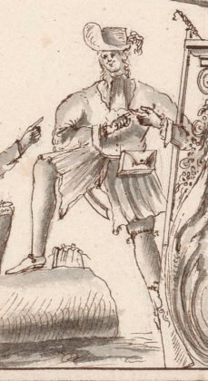 Another flibustier or buccaneer at Île-à-Vache in 1686, from a chart by P. Cornuau. (Courtesy of the Biblitheque nationale de France.)