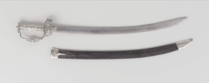 Silver hilted cutlass belonging to Cornelis Tromp