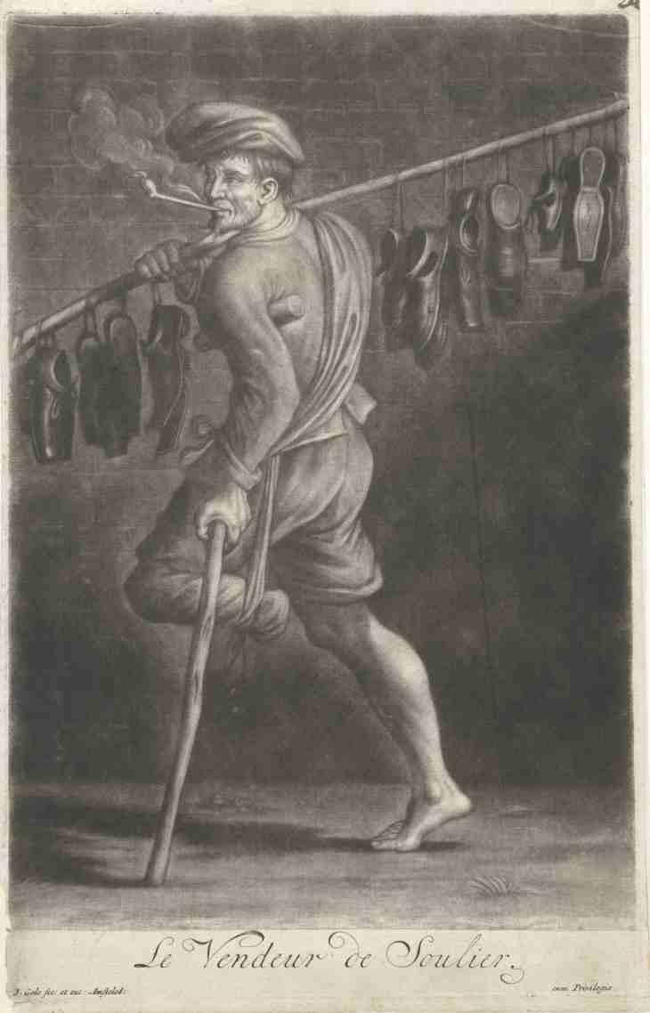Schoenenverkoper by Jacob Gole 1670 1724 LR