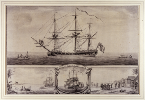 A View of ye Jason Privateer, Nicholas Pocock, c1760, Bristol City Museums