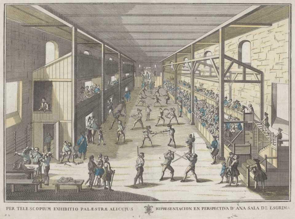 German Fencing Salle LR