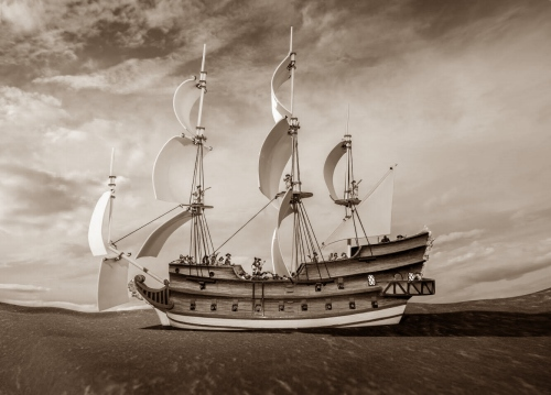Firelock Galleon Sepia