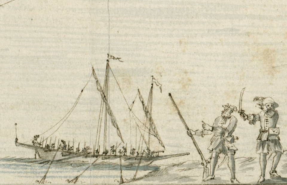 Flibustiers and Half Galley 1680s BNF