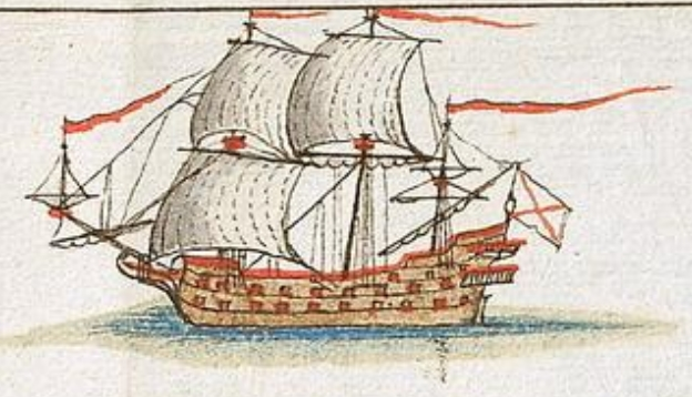 Spanish frigate 1678 Cartagena B AGI