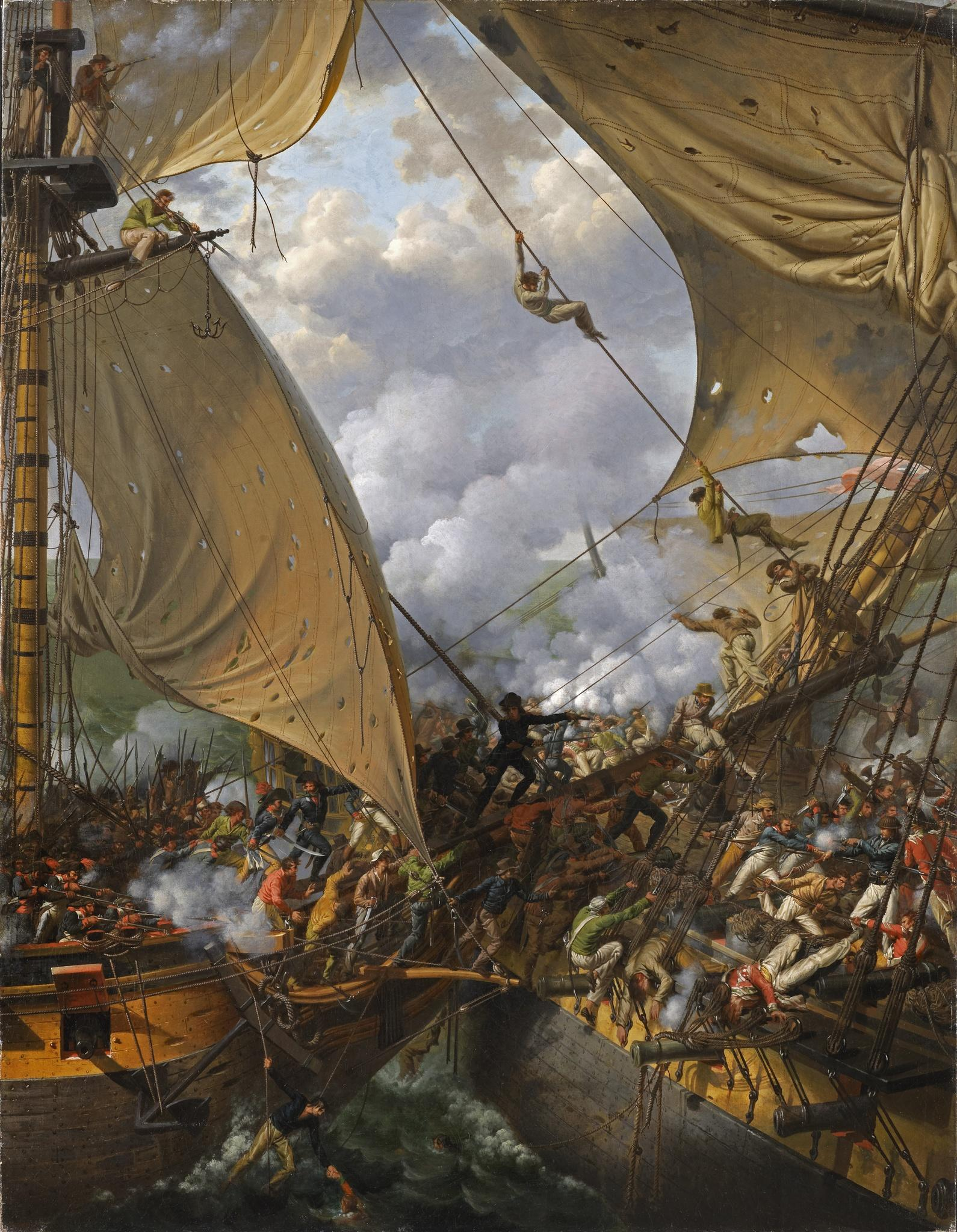 Capture-of-HMS-Ambuscade-by-the-French-corvette-Bayonnaise-14-December-1798