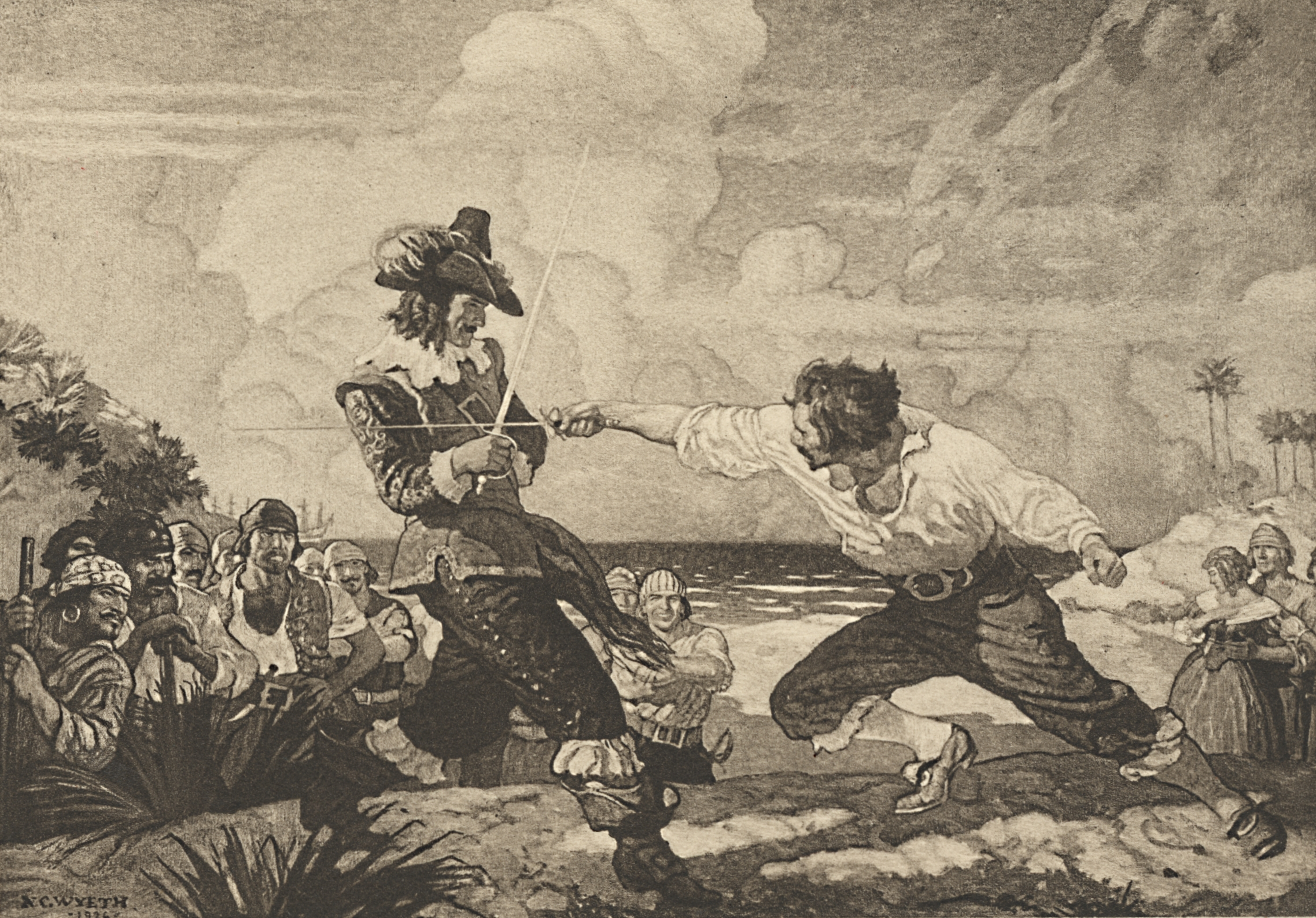 The Duel on the Beach, Part I: In Fiction
