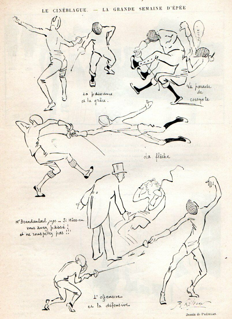 Sport Epee Humor–in 1914! And a Bit on Tactics as Well…
