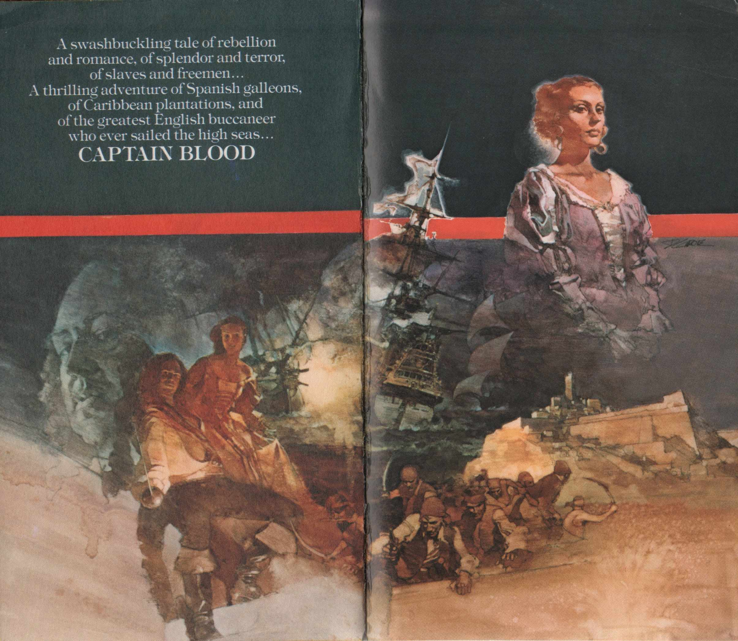 Captain Blood: His Odyssey and Its Mass Market Paperback Covers